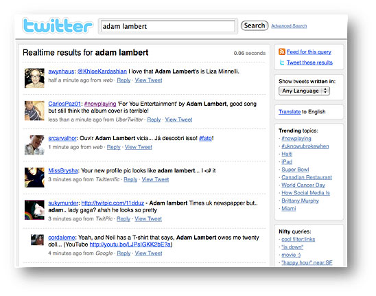 Twitter Real-Time Search
