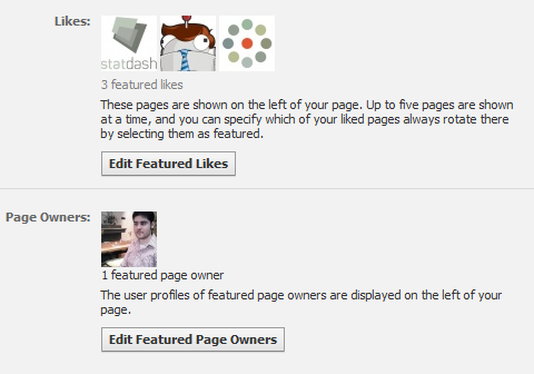 Featured Likes and Page Owners